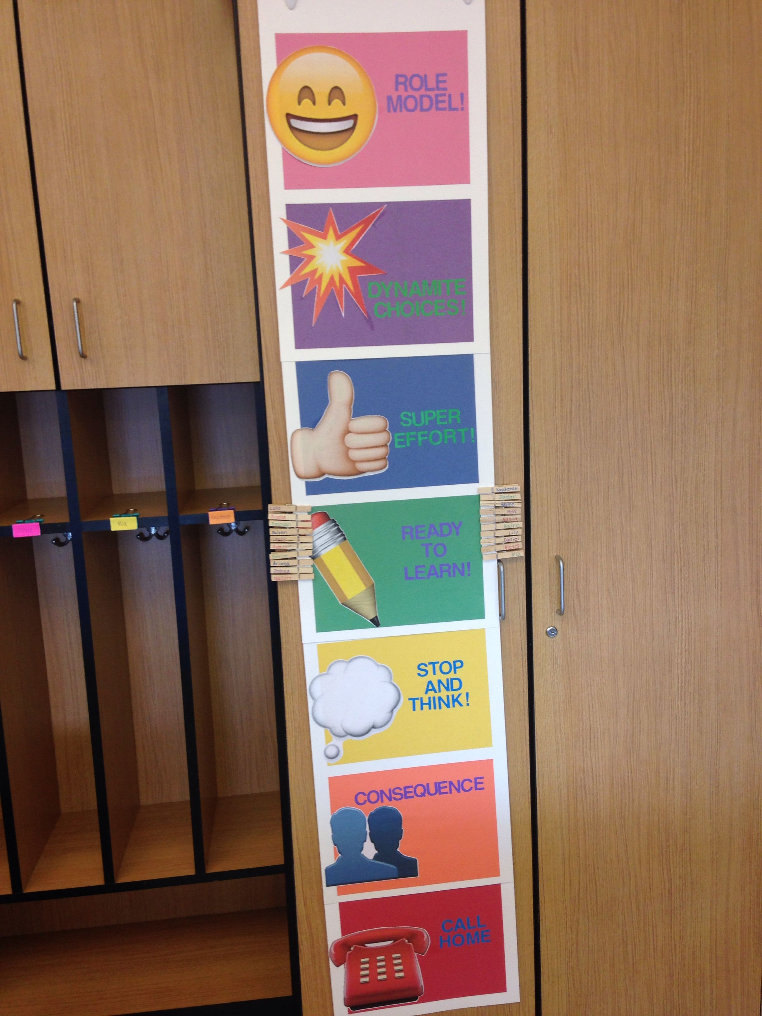Clip Up Behavior Chart Emoji Inspired With Images