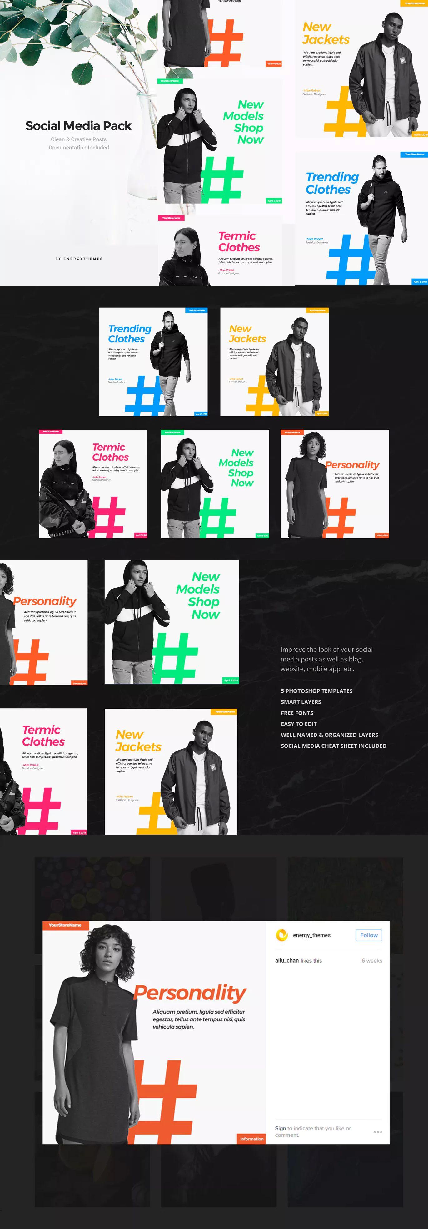 Social Media Banners Vol30 by EnergyThemes on Social
