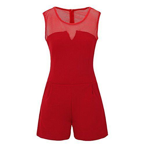 uk availability 49bde c2224 Laeticia Dreams Damen Overall Jumpsuit Catsuit Einteiler ...