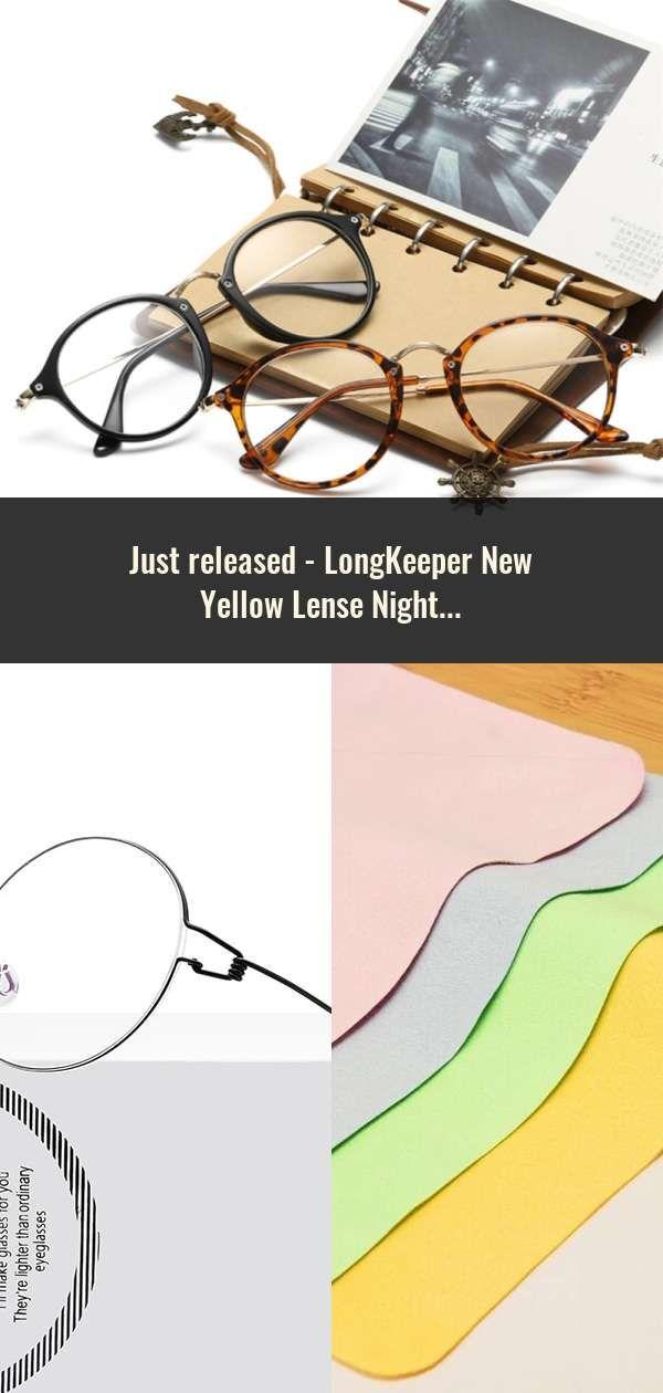 LongKeeper New Yellow Lense Night Vision Driving Glasses Men Polarized Driving S…