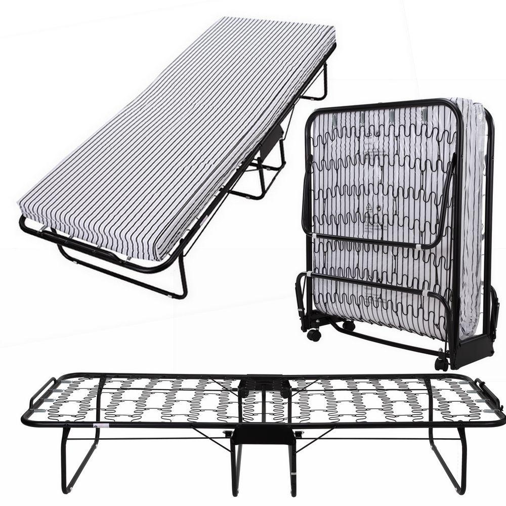 homegear rollaway heavy duty steel frame metal spring folding twin