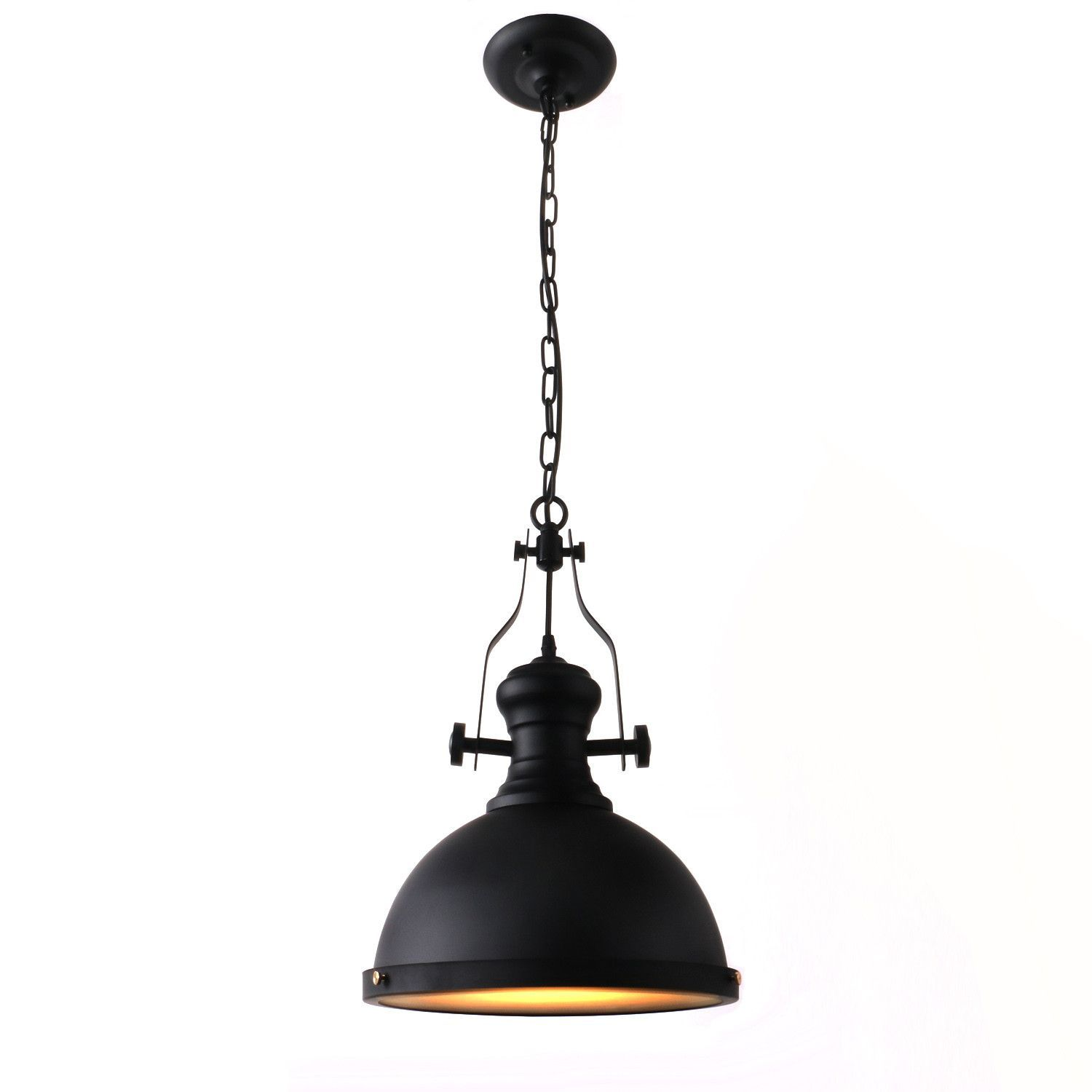Unitary Brand Antique Black Metal Round Shade Large