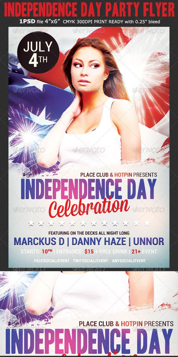Independence Day Party Flyer Flyer template, Parties and Templates - independence day flyer
