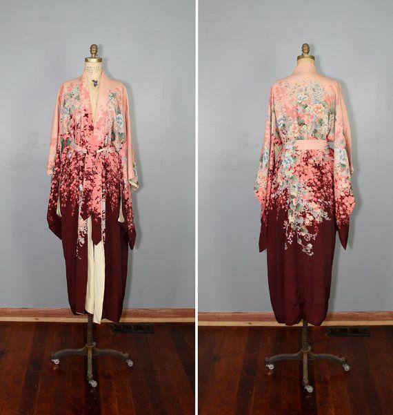 R E S E R V E D / 1930s kimono / dressing gown / robe / DARK SUMMER ...