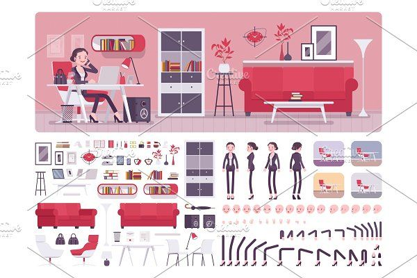 Photo of Meeting room creation set ~ Illustrations ~ Creative Market