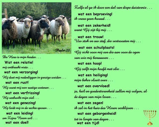psalm 23 de heer is mijn herder | christelijke gedichten - psalm 23