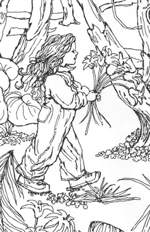 Coloring Page of Childhood Memories Realistic Pen Drawing ...