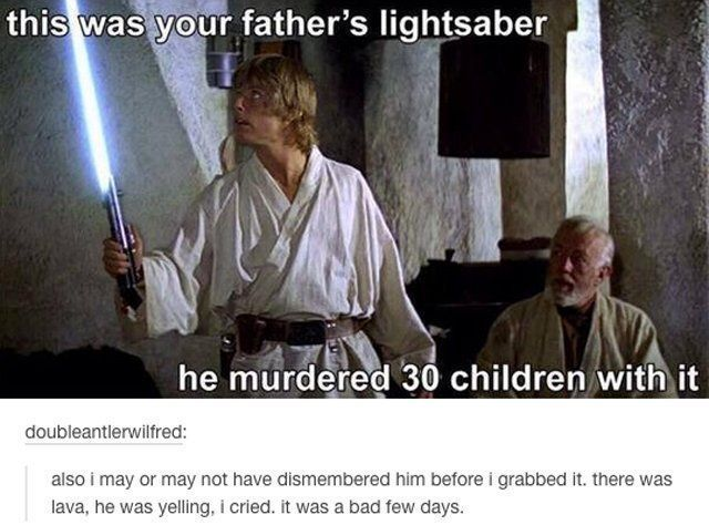 Yahoo Star Wars Jokes Star Wars Humor You Are The Father