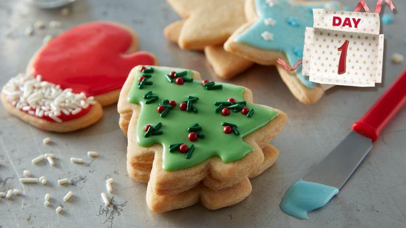 24 Days of Cookies Christmas sugar cookies, Sugar cookies and Sugaring