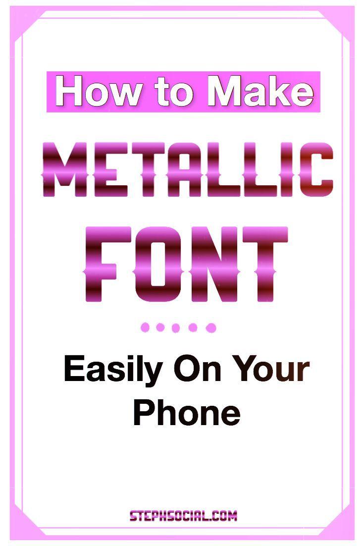 create metallic font  free cool text editor to make cool