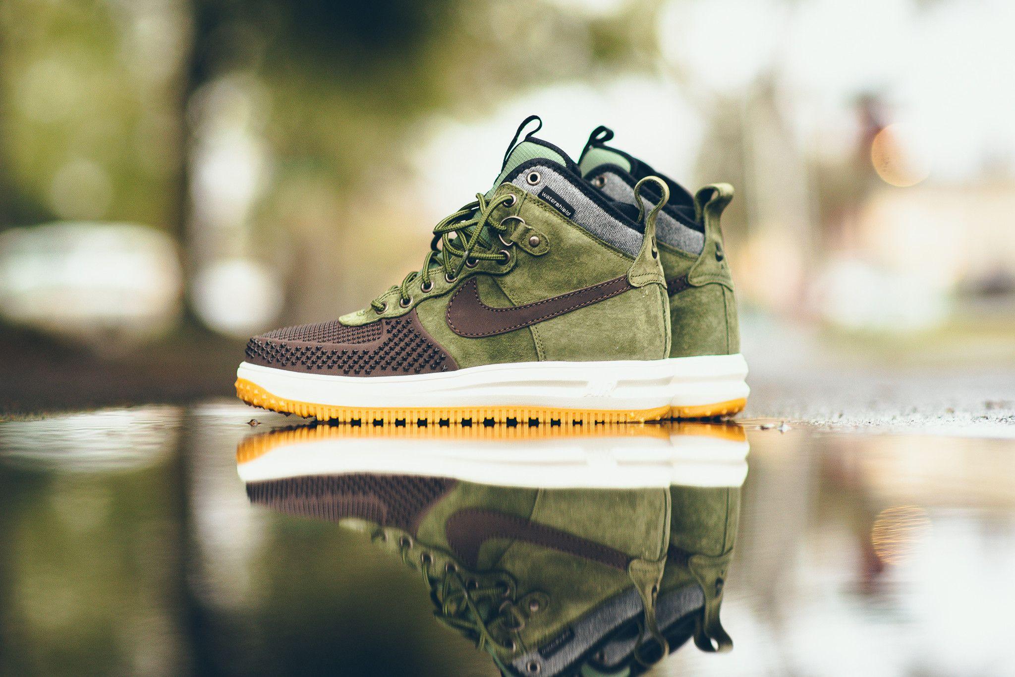 4aaf99c65c91 Nike Lunar Force 1 Duckboot - Baroque Brown Army Olive Gum from Sneaker  Politics