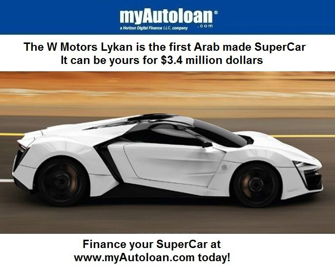 You can finance this SuperCar at www.myautoloan.com