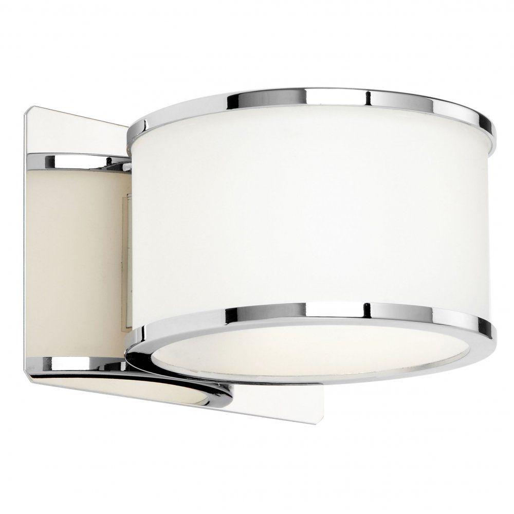 Endon El 20068 1 Light Bathroom Wall Light White Polished Chrome Ip44 Wall Lights Bathroom Wall Lights Indoor Wall Lights