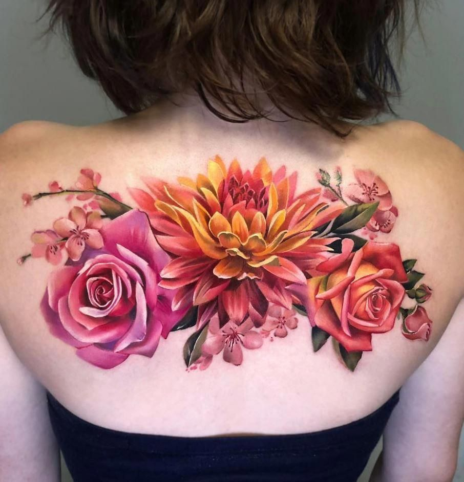 50 Best Pastel Color Flower Tattoos For Girls Shake That Bacon