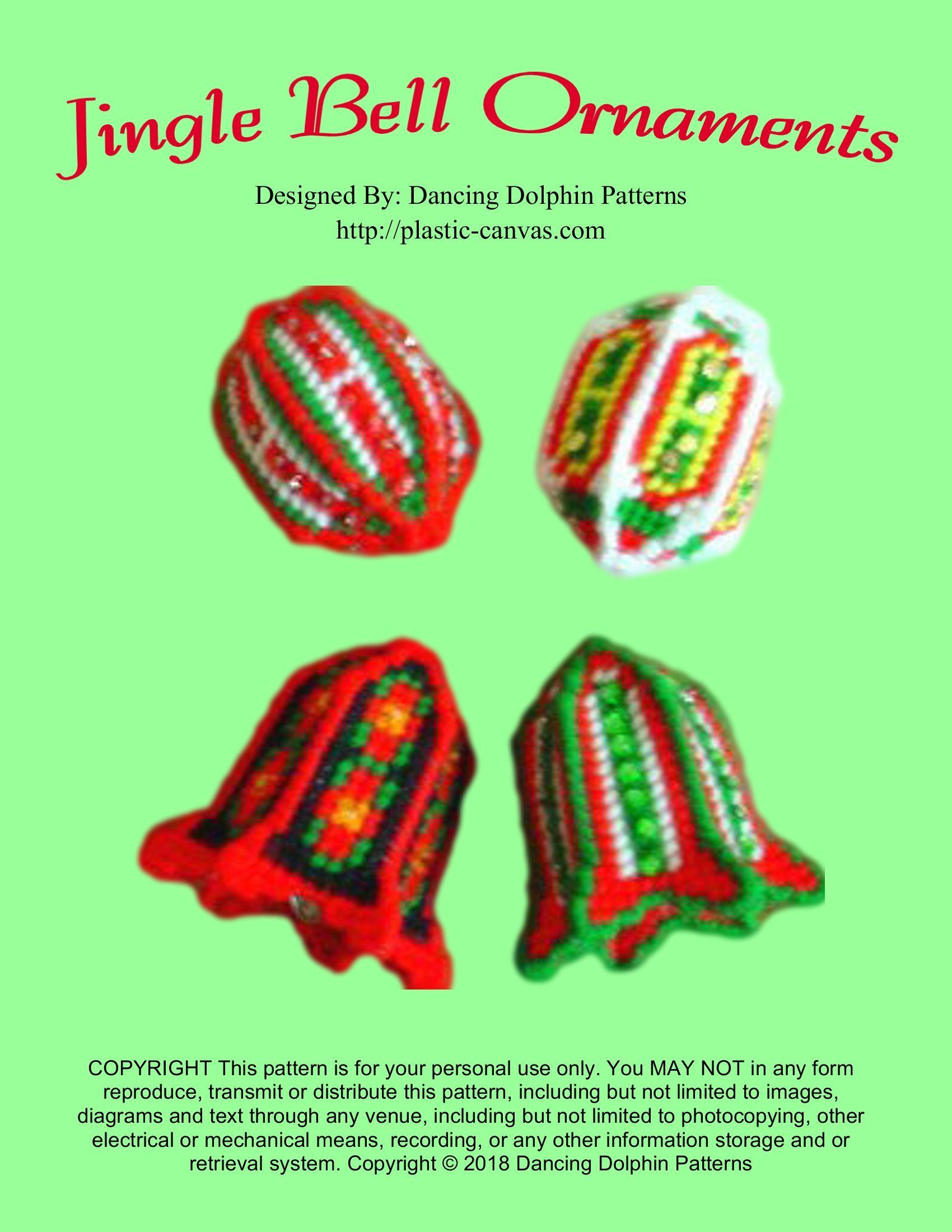"""Jingle Bell Ornaments"" | Plastic Canvas Pattern | Plastic canvas, Plastic canvas patterns ..."