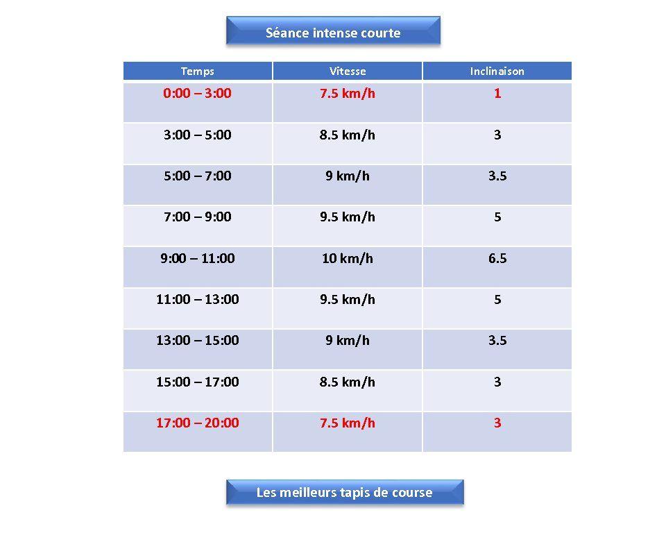 Seance Intense Courte Sur Tapis De Course Tapis De Course Programme Fractionne Tapis Roulant