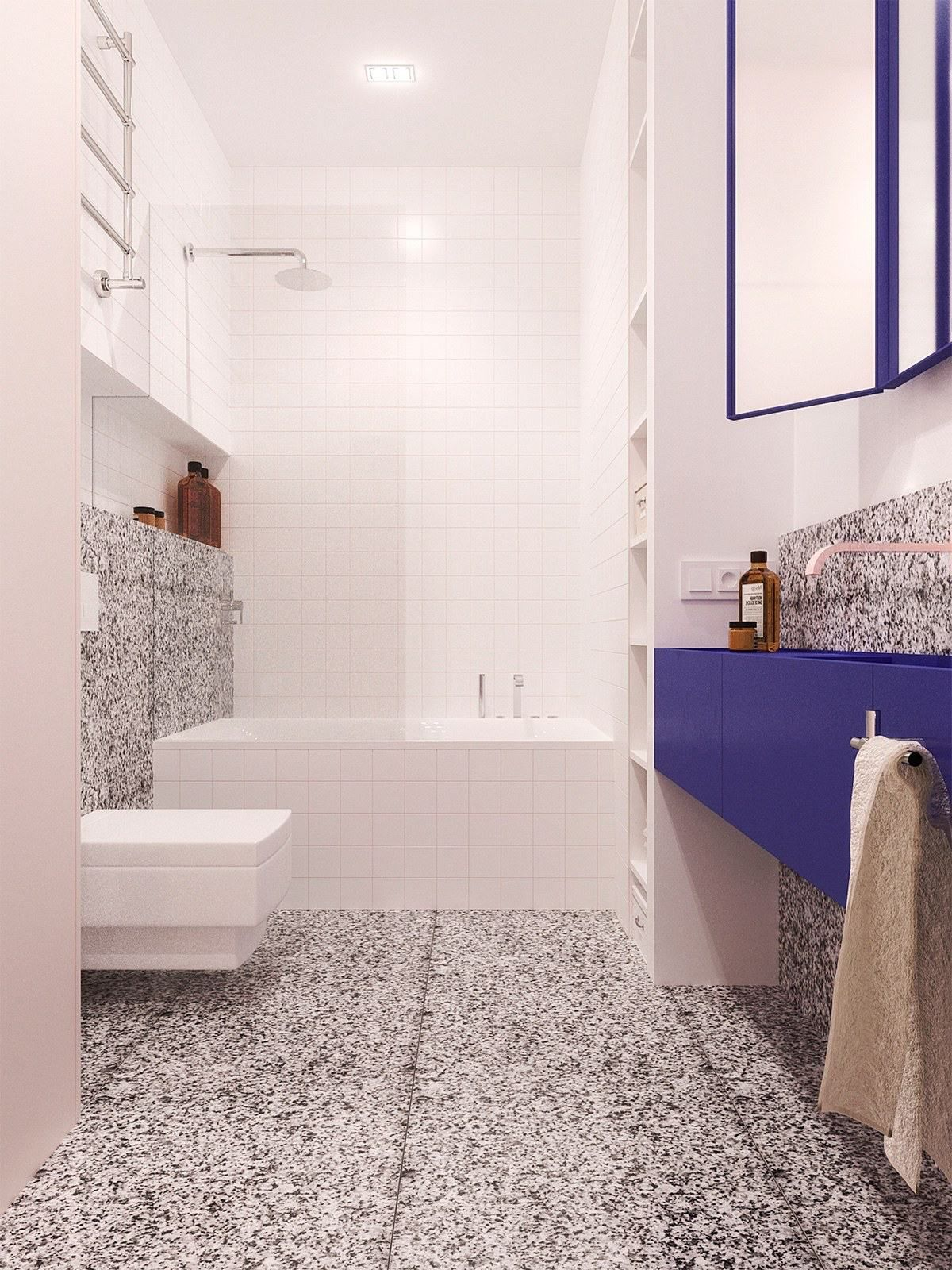 Fabulous Small Bathroom Design With Soft Color... | Visit : Roohome.com