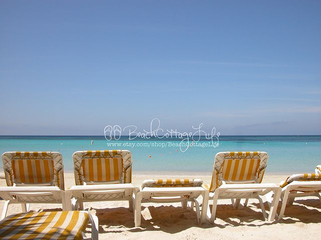 Yellow Beach Chairs René Marie Photography Beach Cottage Life