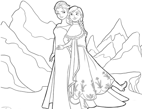 Disney Frozen Coloring Books Pages