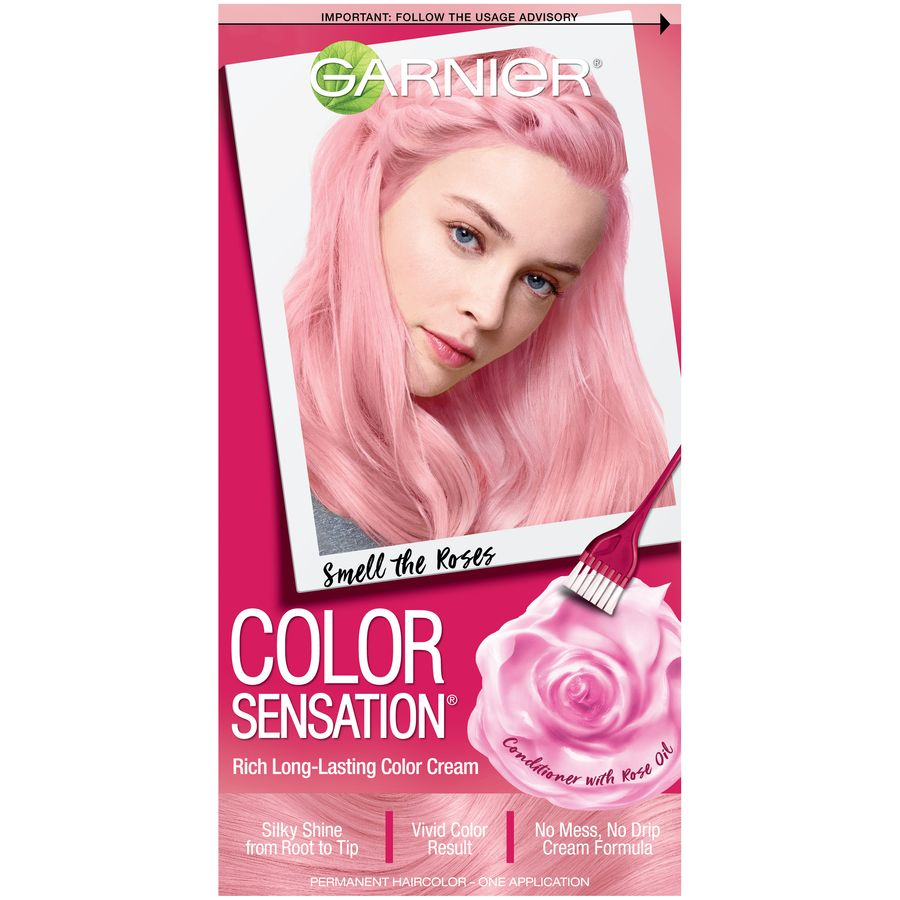 Garnier Color Sensation Hair Color Cream 8 21 Sweet Lavender Dreams Iridescent Purple 1 Kit Walmart Com Garnier Color Sensation Pink Hair Dye Hair Color Cream
