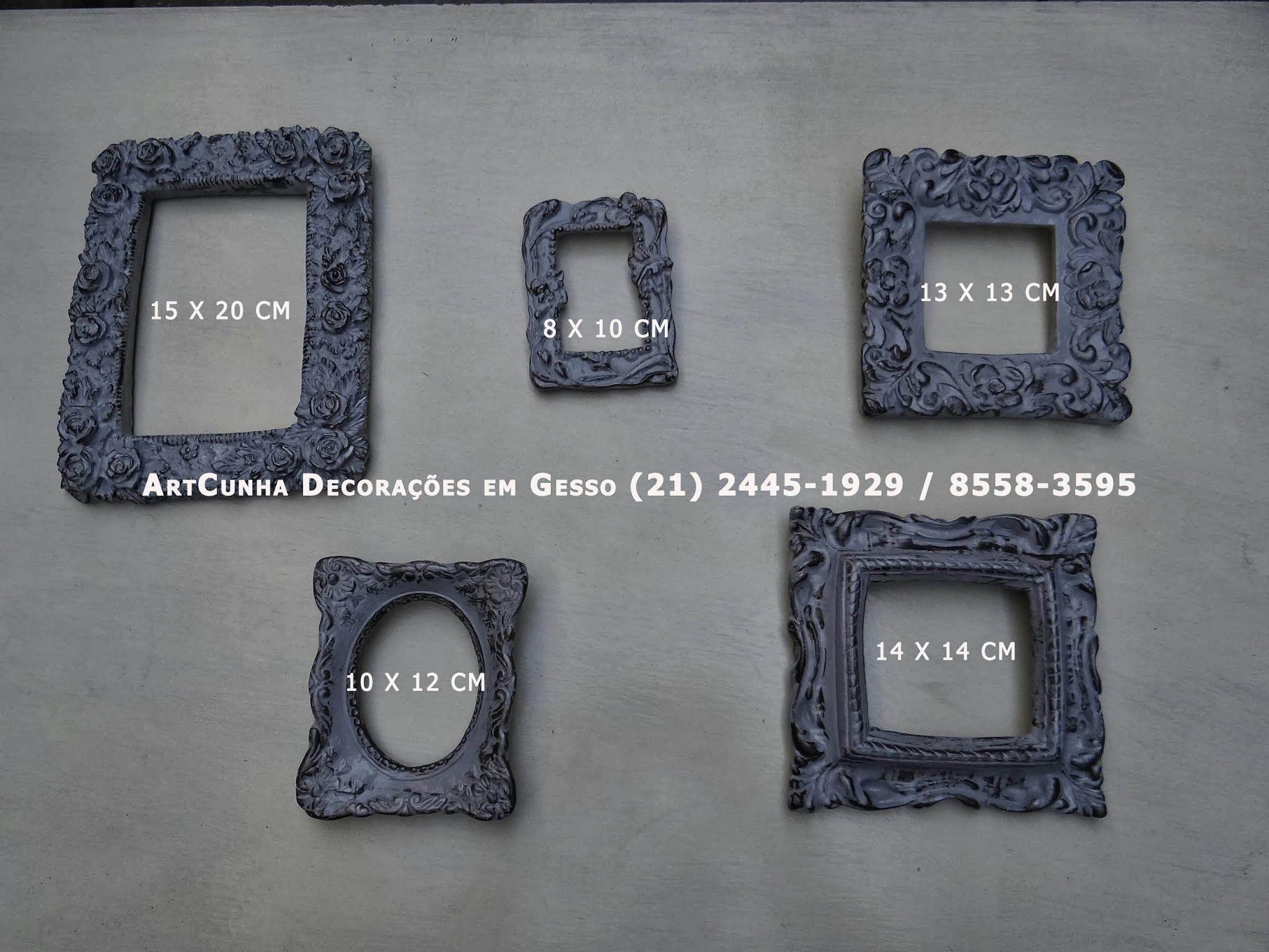 Molduras diversas. Artesanato em Gesso. ArtCunha Decorações. Est. Bandeirantes, 829, Taquara, Rio de Janeiro, RJ. Tel (21) 2445-1929 / 8558-3595.  #Moldura #Molduras #Decorar #Decoracao #Enfeite #Parede #Artesanato #Gesso #ArtCunha #Retrato #Foto #Fotografia #Espelho #Espelhos #Provencal