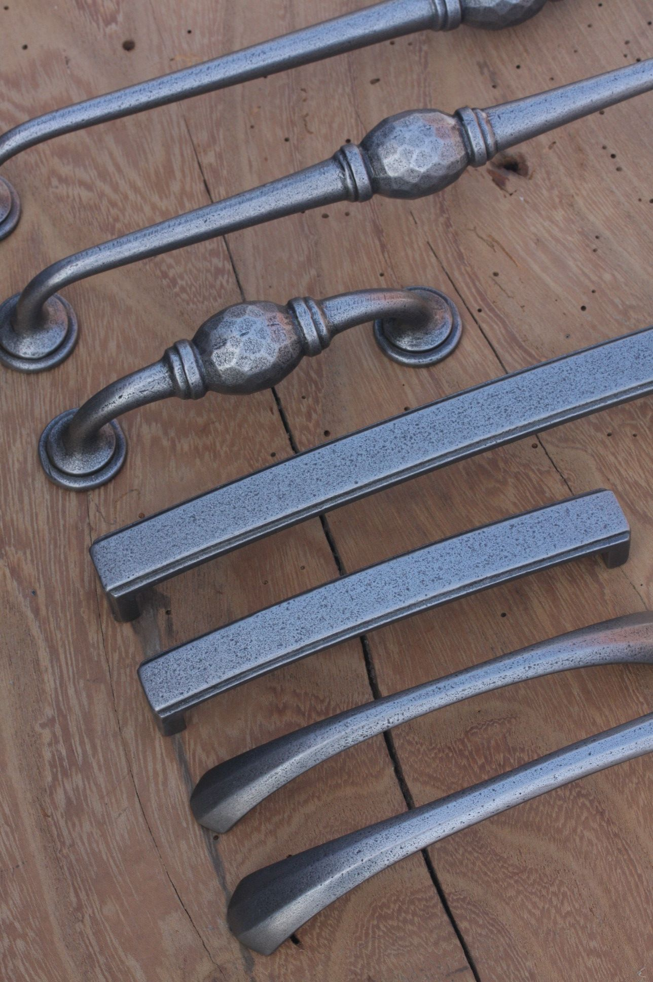 Pewter Pull Handles Are Handforged In One Piece Of Steel With Gothic Or  Bean Shaped Ends. Three Sizes To Suit As Cabinet Handles, Drawer Handles,  ...