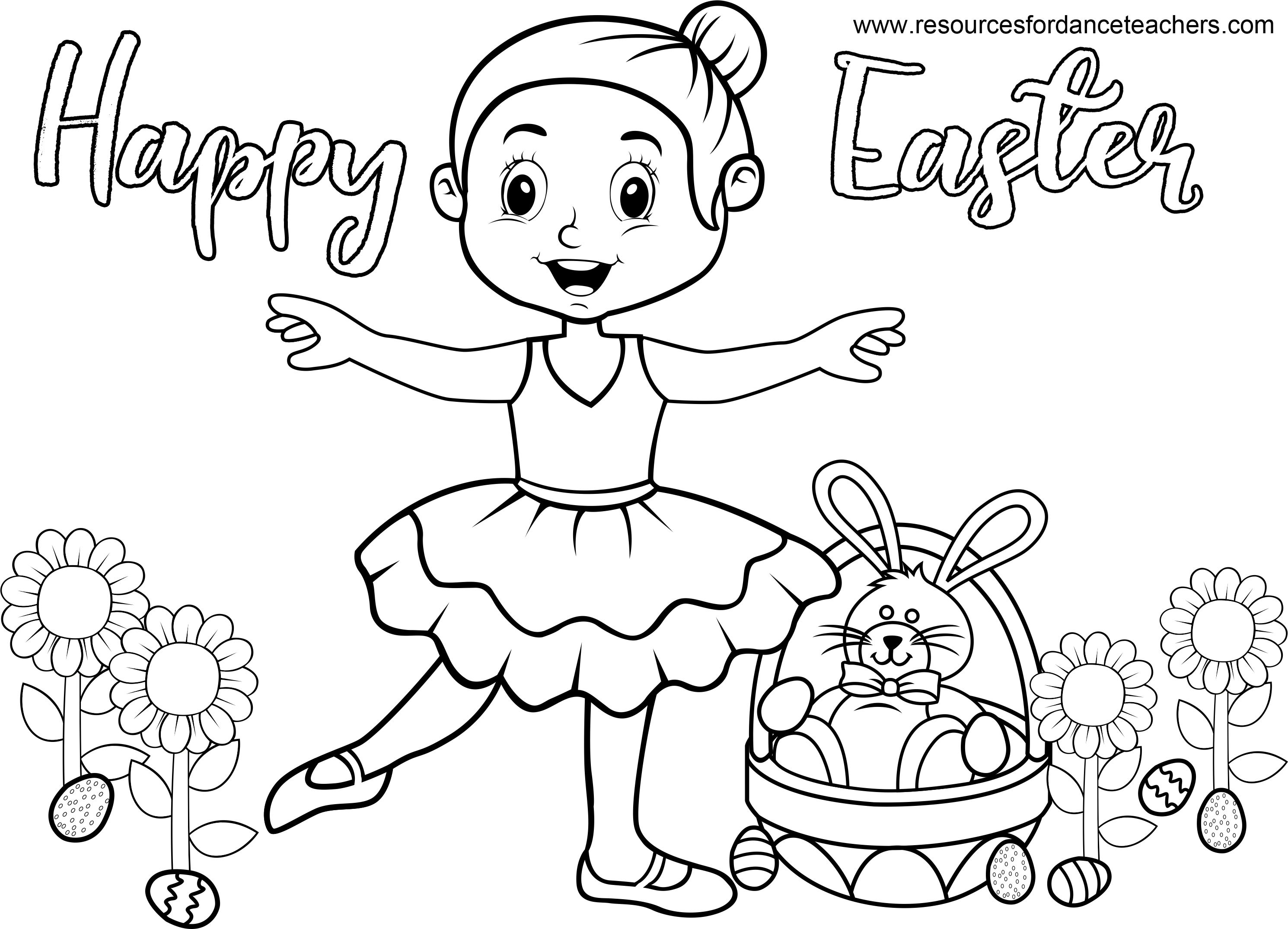 Top 5 Preschool Dance Easter Songs And Activities Dance Coloring Pages Easter Songs Coloring Sheets