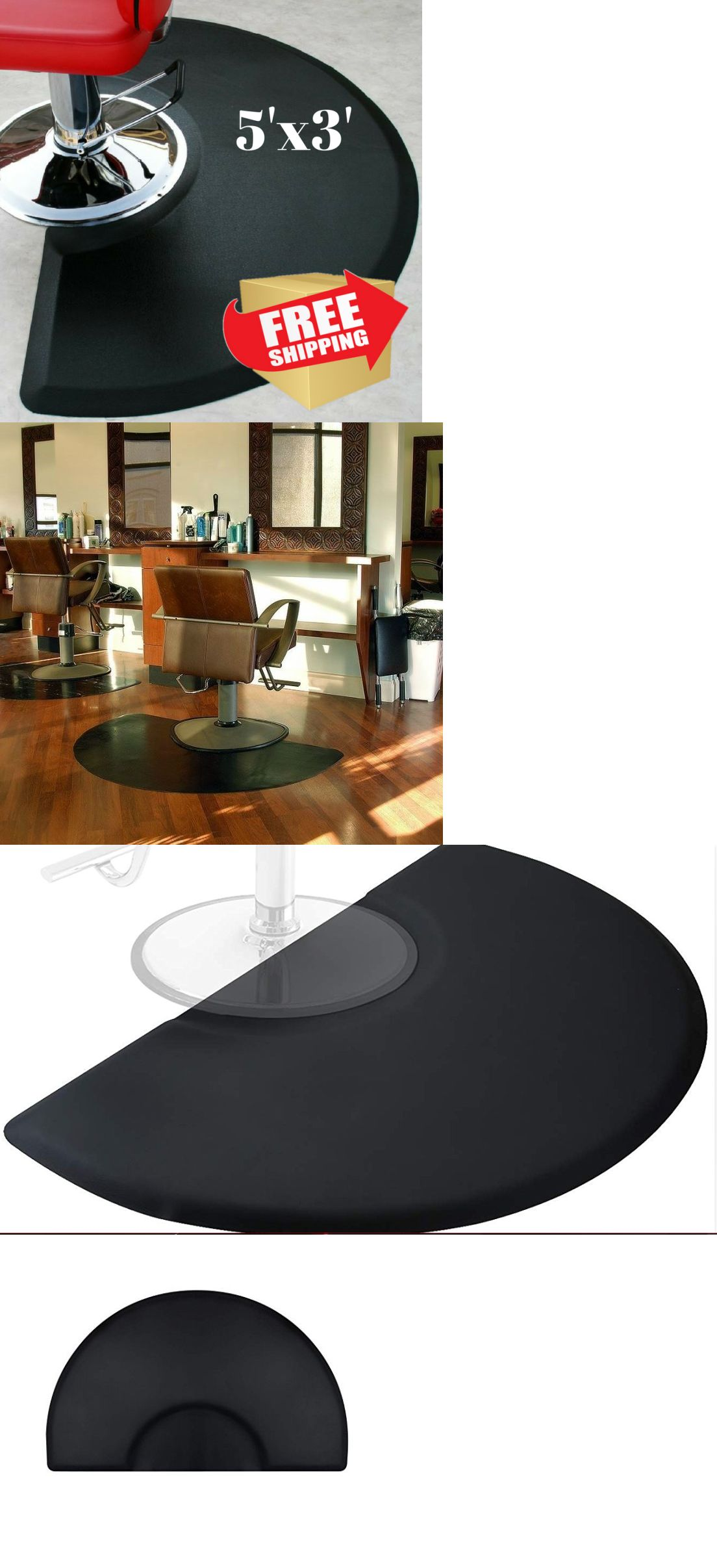 other salon and spa equipment barber shop chair mats semi circle