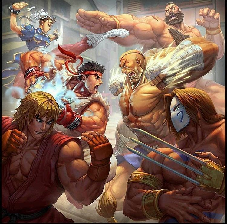 Street Fighter Classic Characters Streetfighter Ken Ryu Vega