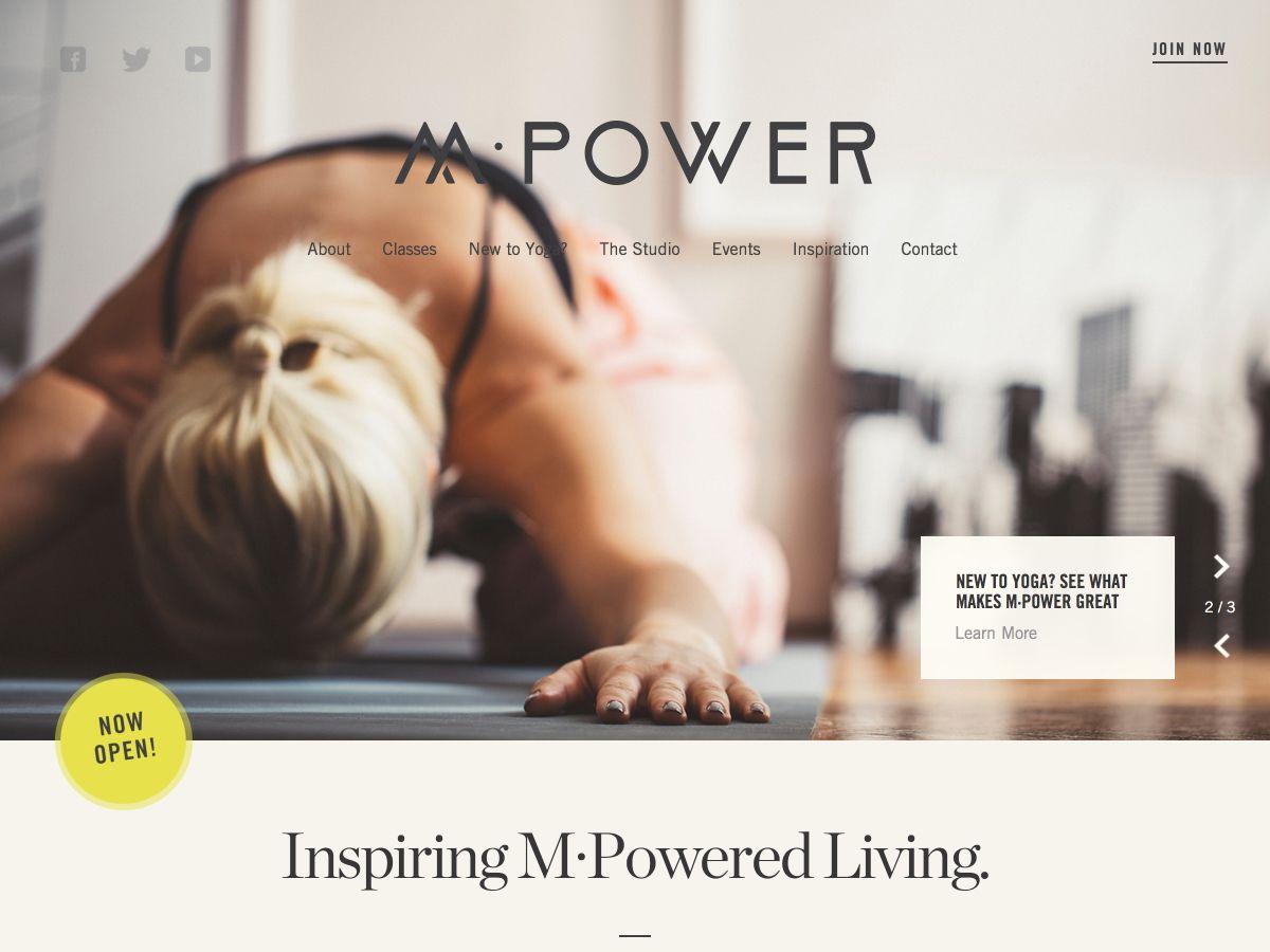 M•Power Yoga Studio · Bootstrap Expo