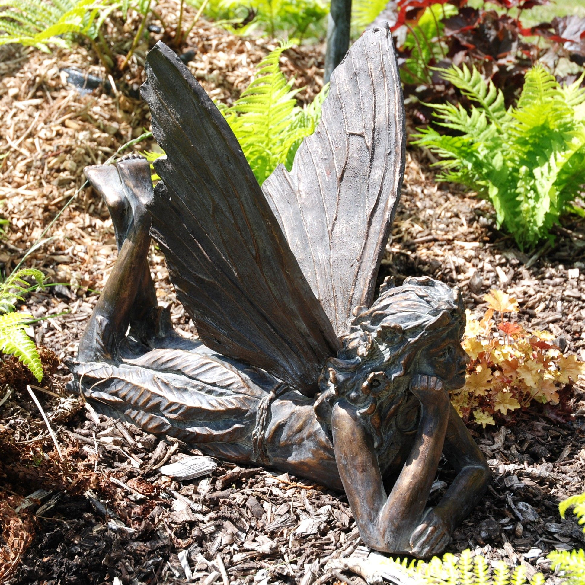 Beautiful View The Contemplating Fairy Antique Bronze Sculpture   Large Garden  Ornament. Or See Our Full Range Of Exquisite Unique To Statues U0026 Sculptures  Online.