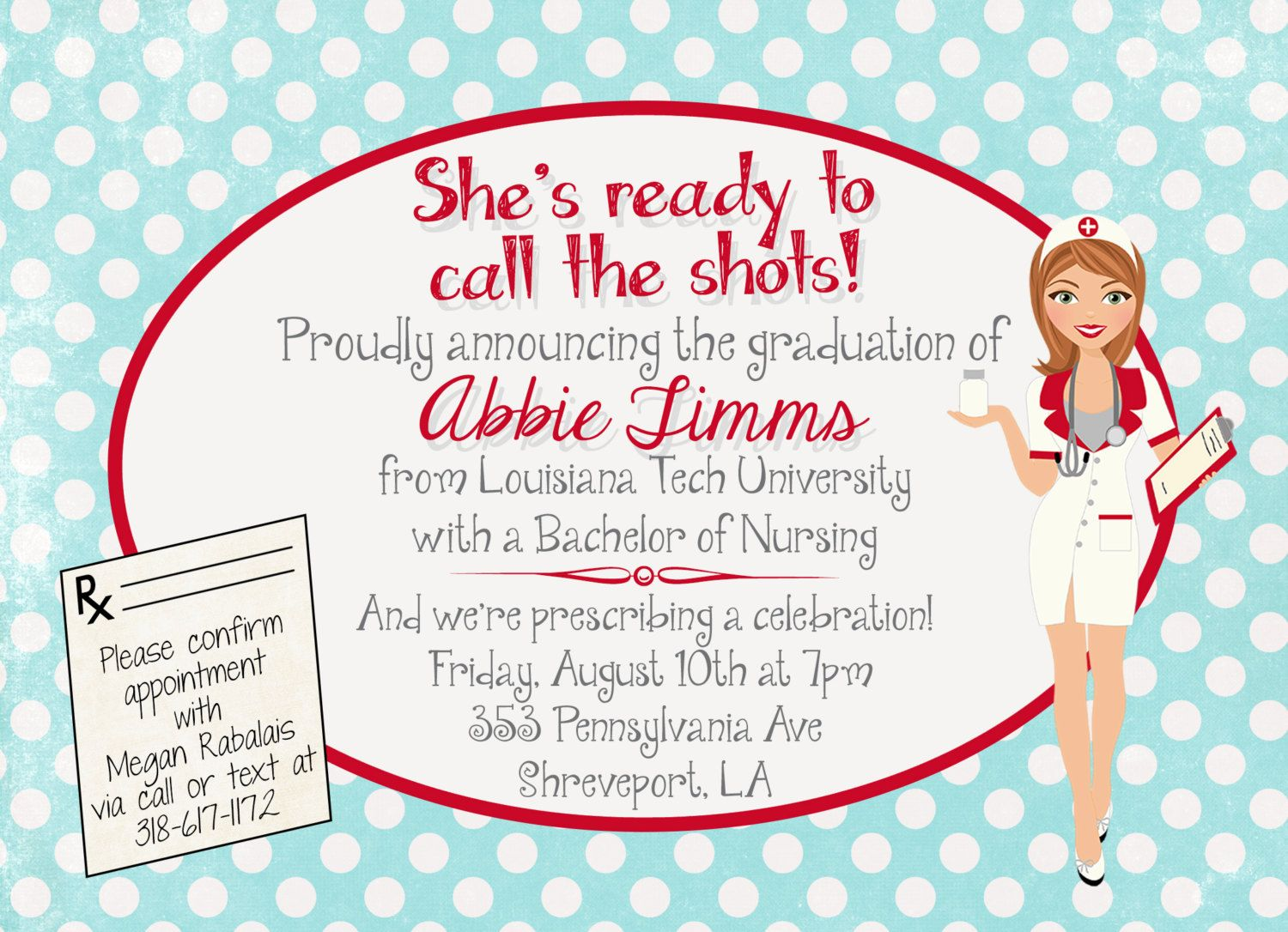 Customized Nursing Graduation Party Invitation by andyneal331 ...