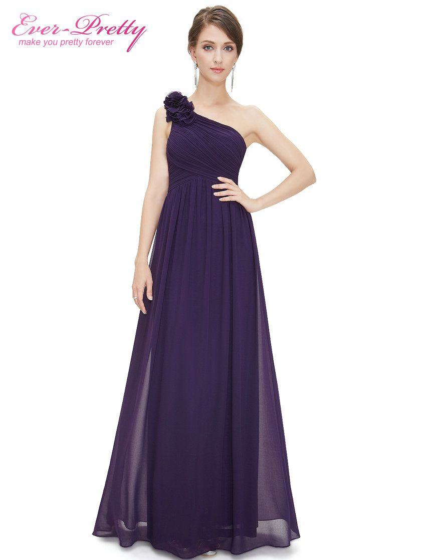 Bridesmaid Dresses Ever Pretty EP08237 Women\'s One Shoulder Floral ...