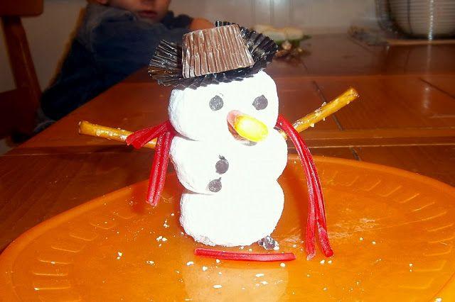 Edible snow men