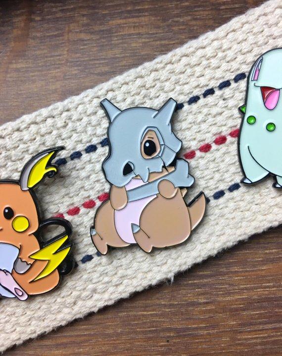 Fat Pikachu Fantasy Pokemon Enamel Pin