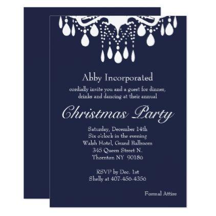 Christmas Evening Party.Evening Grand Ballroom Christmas Party Invitation Zazzle