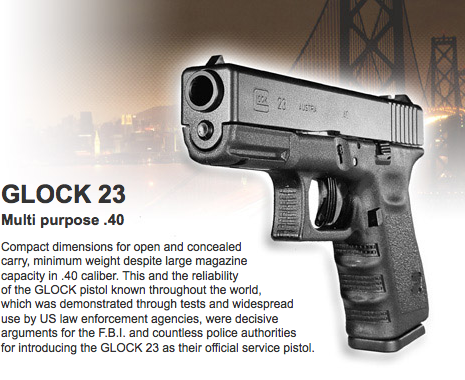 Pin On Glock 40 Caliber