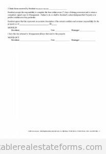 Free Move In Move Out Inspection Report Printable Real Estate