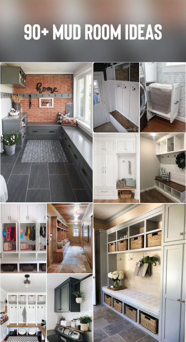 90+ Mud Room Ideas Today I'll be sharing some fun fall entryway decor ideas featuring our new side porch and mud room! Be sure to visit the other homes on the tour as well! #Mudroom #Entryway #FallDecor #OldHouse