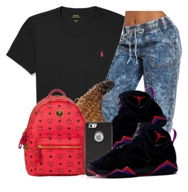 """Untitled #193"" by oh-thatasia ❤ liked on Polyvore featuring Polo Ralph Lauren and MCM"