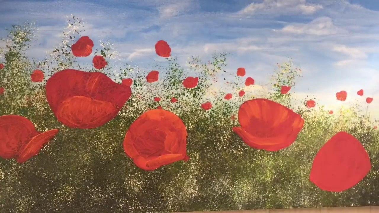 Mohnblumen Gemalt Von Didier Junk Youtube In 2020 Painting Painting Tutorial Poppies