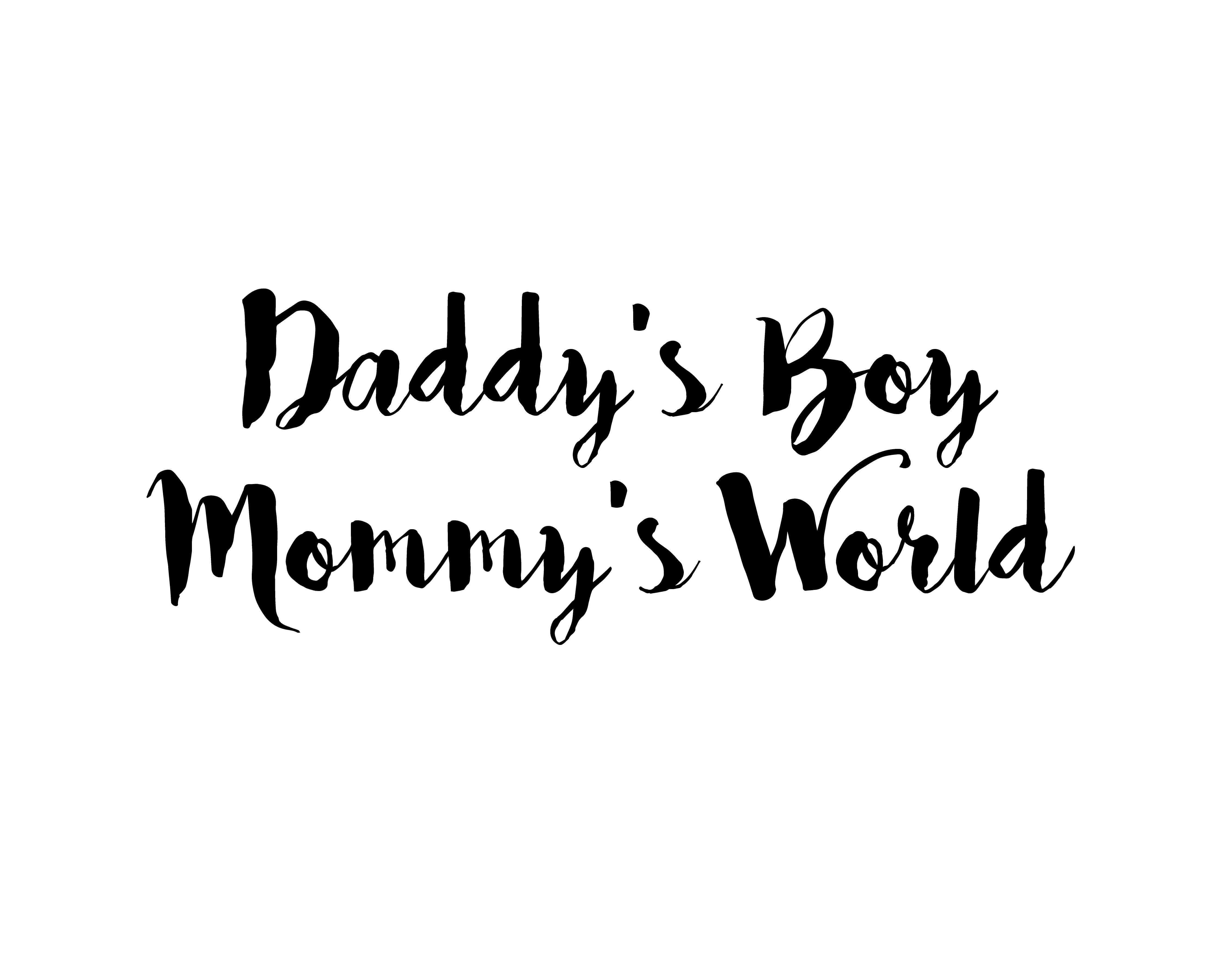 Daddy\'s Boy Mommy\'s World Free Nursery Room Home Decor ...