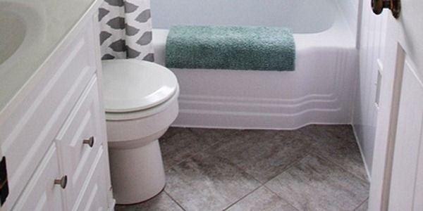 Bathroom redo grouted peel and stick floor tiles pink tiles bathroom redo grouted peel and stick floor tiles ppazfo