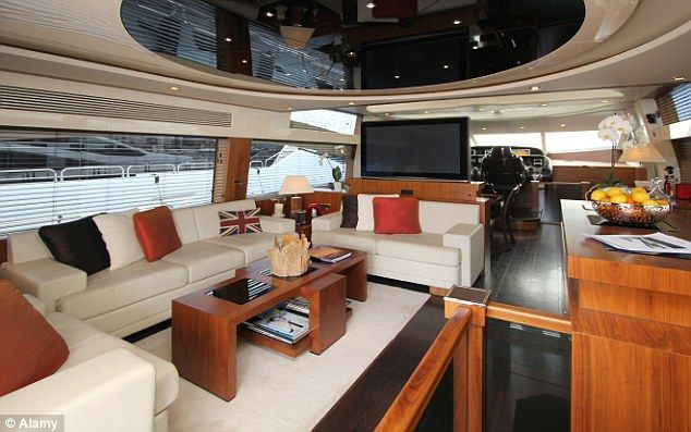 The inside of aSunseeker Predator: one of the many yachts  available to rent by the day through Getmyboat | Getmyboat.com is the Airbnb of the yacht world. Browse 28,000 boats in 135 different countries that are affordable and able to rent by the day from their owners. If you have a boat you can also list it here to make money while you are not using it. Search by country – popular locations are Croatia, London, Bahamas, Barcelona or California - or vessel, and split the rental cost between…