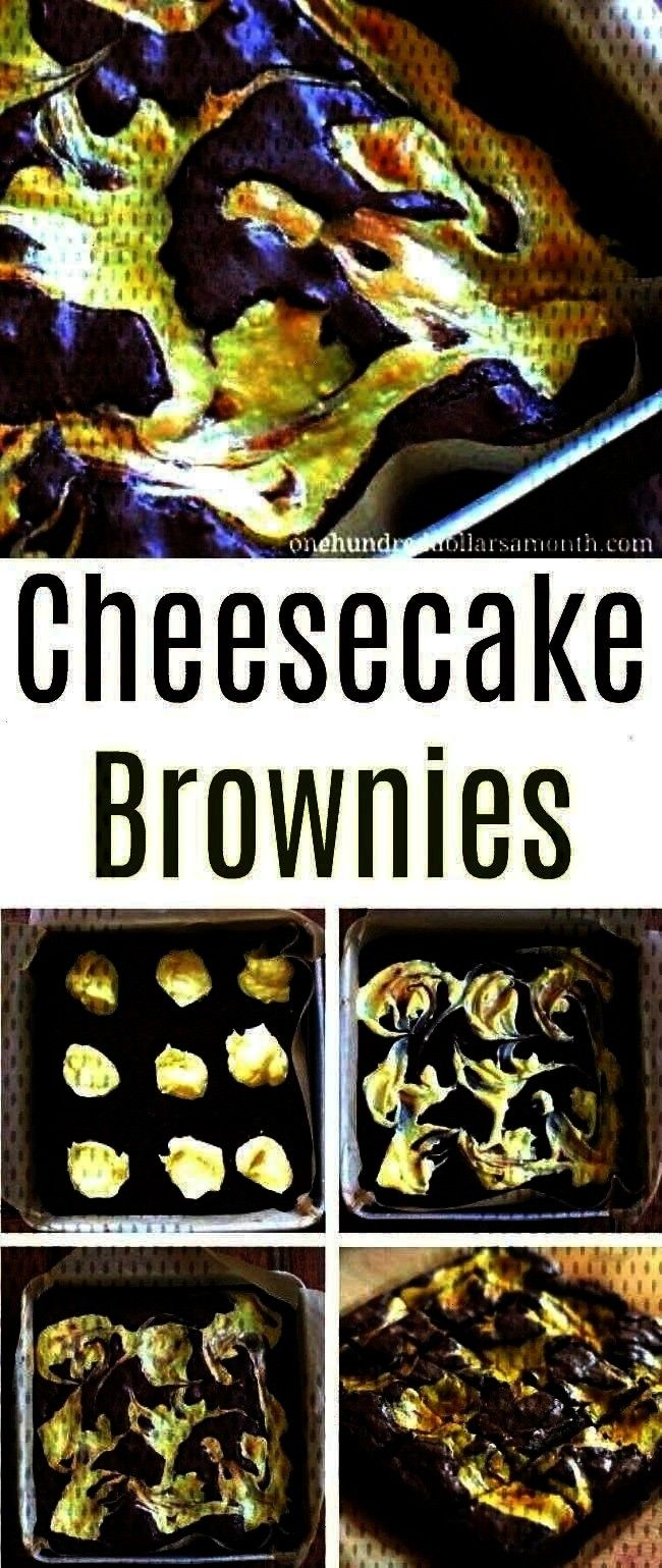 Brownies - One Hundred Dollars a MonthEasy Dessert Recipes - Cheesecake Brownies - On...Easy Desser