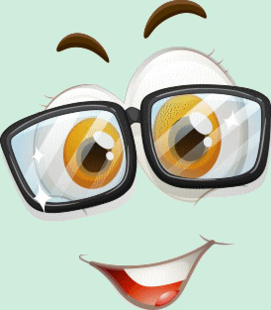 Bx Clipart Smiley Lunettes Avec Heureux Émoticône Cartoon rhdtsCQ
