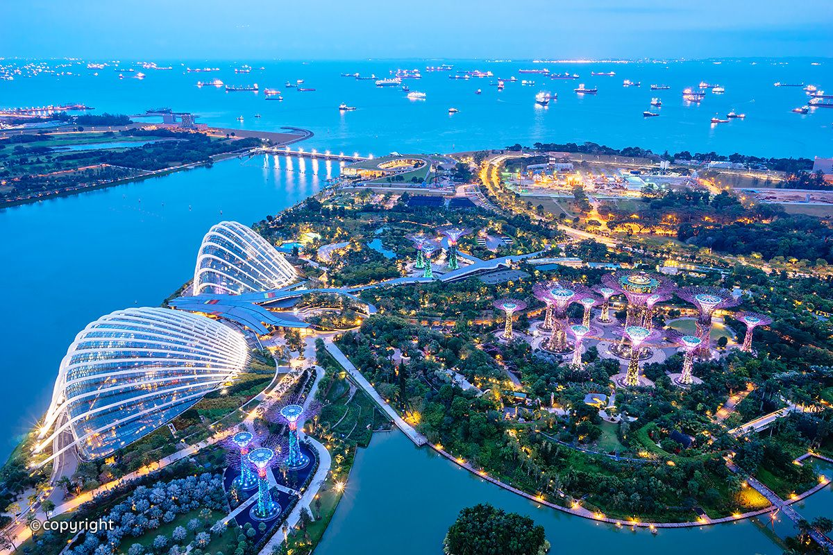 Gardens by the Bay is a huge, colourful, futuristic park