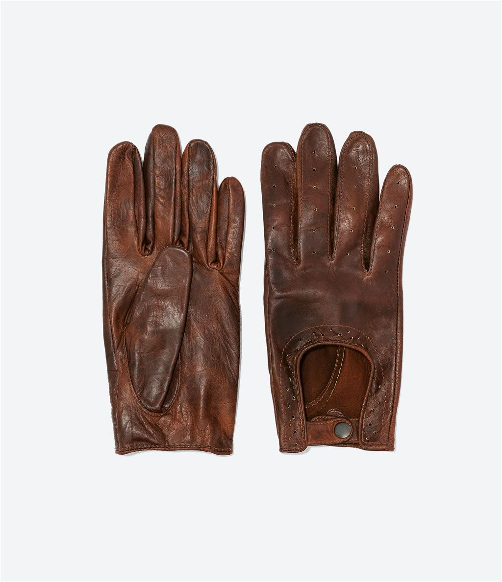 1d6964cebc8a0 PERFORATED LEATHER DRIVING GLOVES-Gloves and Umbrellas-Accessories ...