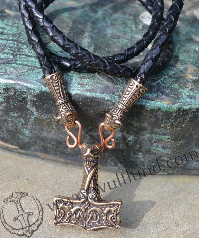OSEBERG SHIP, viking necklace - bronze