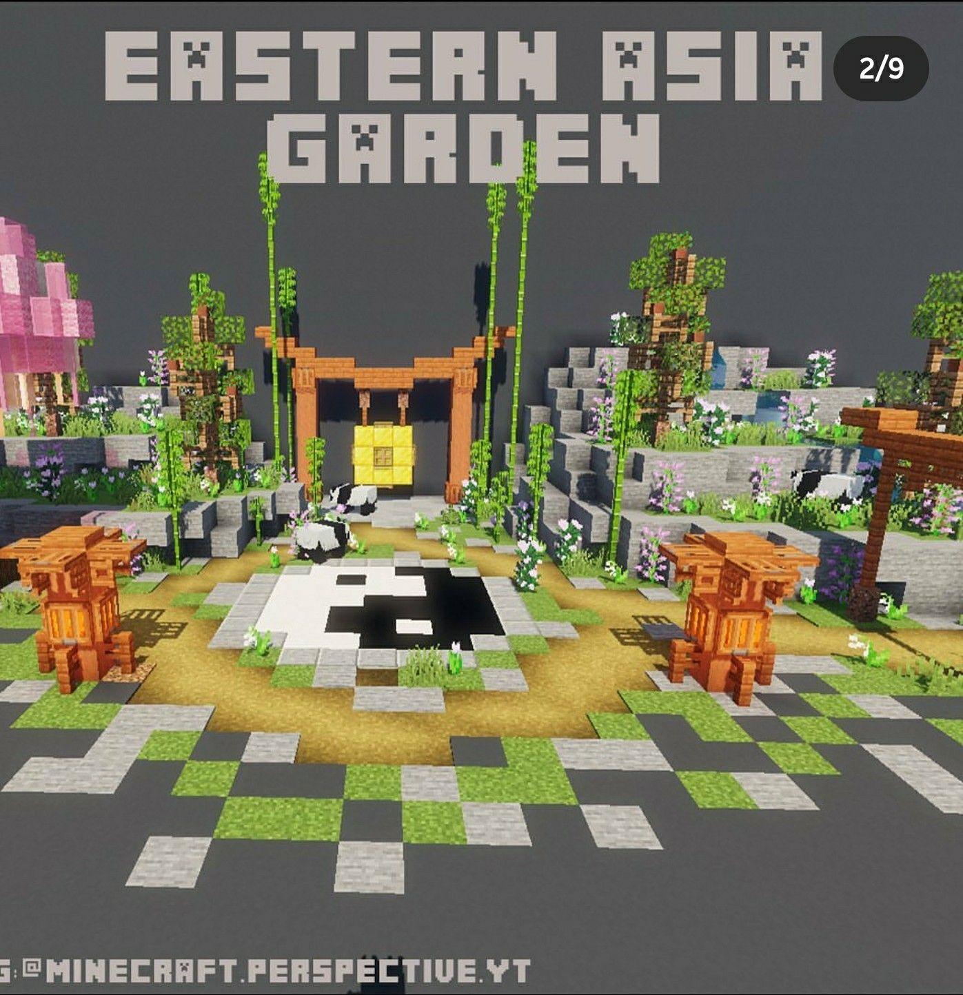 Asian Garden Minecraft In 2020 Minecraft Blueprints Minecraft Minecraft Projects